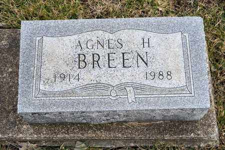 BREEN, AGNES H - Crawford County, Ohio | AGNES H BREEN - Ohio Gravestone Photos