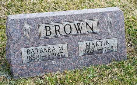 BROWN, MARTIN - Crawford County, Ohio | MARTIN BROWN - Ohio Gravestone Photos