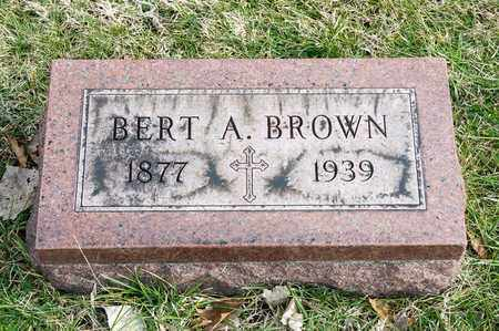 BROWN, BERT A - Crawford County, Ohio | BERT A BROWN - Ohio Gravestone Photos