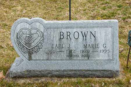 BROWN, EARL J - Crawford County, Ohio | EARL J BROWN - Ohio Gravestone Photos