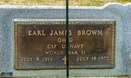 BROWN, EARL JAMES - Crawford County, Ohio | EARL JAMES BROWN - Ohio Gravestone Photos