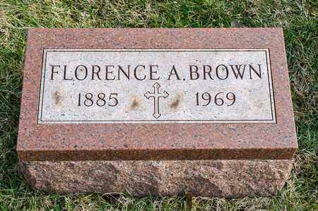 BROWN, FLORENCE A - Crawford County, Ohio | FLORENCE A BROWN - Ohio Gravestone Photos