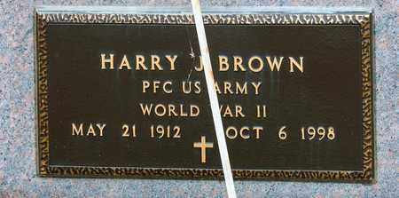 BROWN, HARRY J - Crawford County, Ohio | HARRY J BROWN - Ohio Gravestone Photos