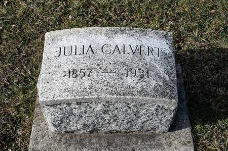 CALVERT, JULIA - Crawford County, Ohio | JULIA CALVERT - Ohio Gravestone Photos