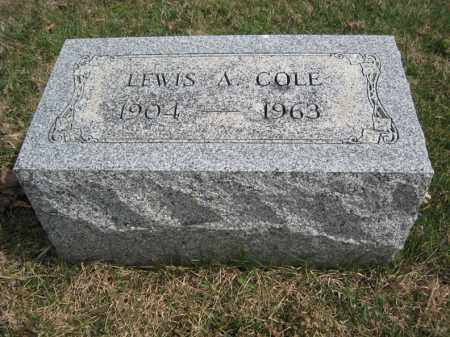 COLE, LEWIS A - Crawford County, Ohio | LEWIS A COLE - Ohio Gravestone Photos
