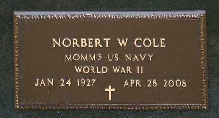 COLE, NORBERT W - Crawford County, Ohio | NORBERT W COLE - Ohio Gravestone Photos
