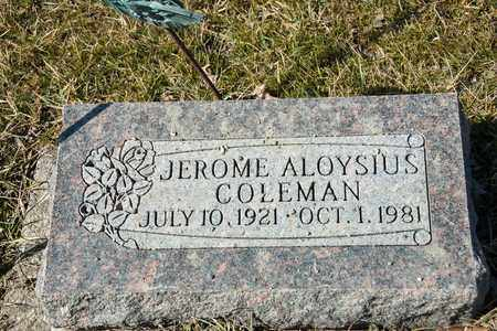 COLEMAN, JEROME ALOYSIUS - Crawford County, Ohio | JEROME ALOYSIUS COLEMAN - Ohio Gravestone Photos