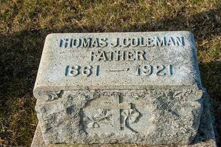 COLEMAN, THOMAS J - Crawford County, Ohio | THOMAS J COLEMAN - Ohio Gravestone Photos