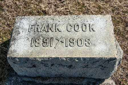 COOK, FRANK - Crawford County, Ohio | FRANK COOK - Ohio Gravestone Photos