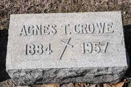 CROWE, AGNES T - Crawford County, Ohio | AGNES T CROWE - Ohio Gravestone Photos