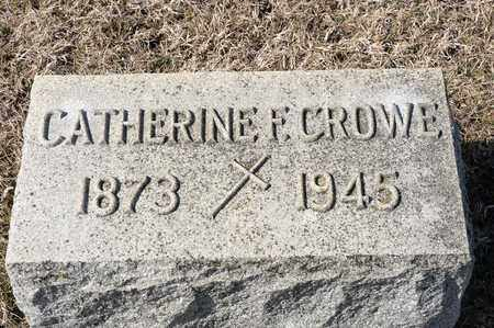 CROWE, CATHERINE F - Crawford County, Ohio | CATHERINE F CROWE - Ohio Gravestone Photos