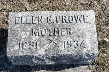 CROWE, ELLEN G - Crawford County, Ohio | ELLEN G CROWE - Ohio Gravestone Photos