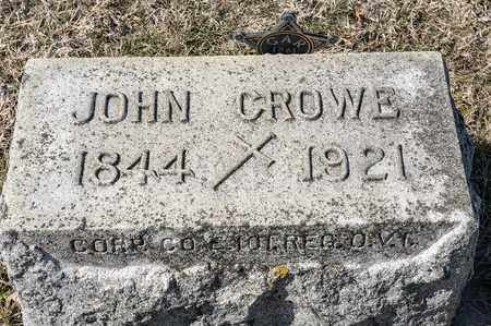 CROWE, JOHN - Crawford County, Ohio | JOHN CROWE - Ohio Gravestone Photos