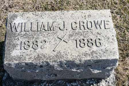 CROWE, WILLIAM J - Crawford County, Ohio | WILLIAM J CROWE - Ohio Gravestone Photos