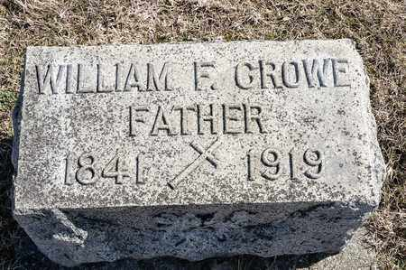 CROWE, WILLIAM F - Crawford County, Ohio | WILLIAM F CROWE - Ohio Gravestone Photos