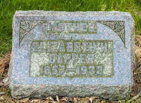 DAPPER, ELIZABETH - Crawford County, Ohio | ELIZABETH DAPPER - Ohio Gravestone Photos
