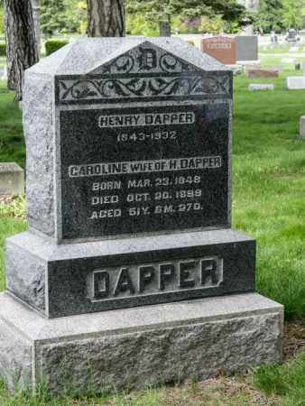 DAPPER, CAROLINE - Crawford County, Ohio | CAROLINE DAPPER - Ohio Gravestone Photos