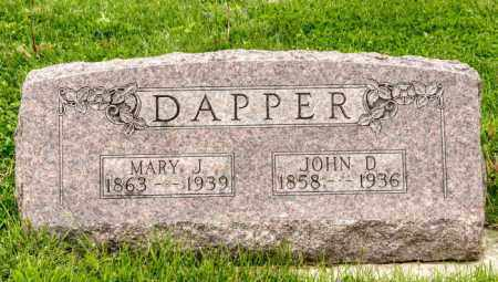 DAPPER, MARY JOSEPHINE - Crawford County, Ohio | MARY JOSEPHINE DAPPER - Ohio Gravestone Photos