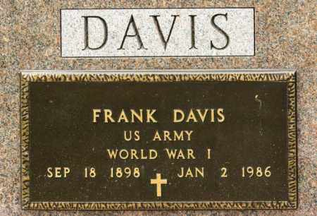 DAVIS, FRANK - Crawford County, Ohio | FRANK DAVIS - Ohio Gravestone Photos