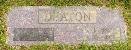 DEATON, MARY E. - Crawford County, Ohio | MARY E. DEATON - Ohio Gravestone Photos