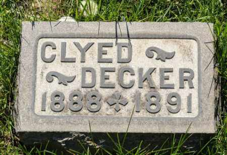 DECKER, CLYDE - Crawford County, Ohio | CLYDE DECKER - Ohio Gravestone Photos