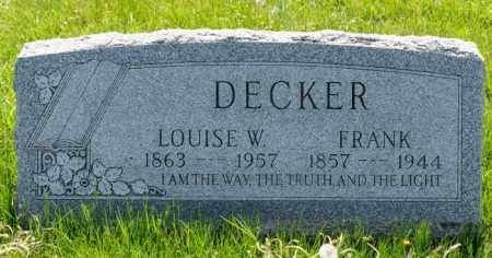 DECKER, FRANK - Crawford County, Ohio | FRANK DECKER - Ohio Gravestone Photos