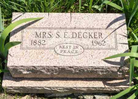 DECKER, MATILDA LAVINA - Crawford County, Ohio | MATILDA LAVINA DECKER - Ohio Gravestone Photos
