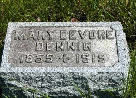 DEVORE DENNIG, MARY - Crawford County, Ohio | MARY DEVORE DENNIG - Ohio Gravestone Photos