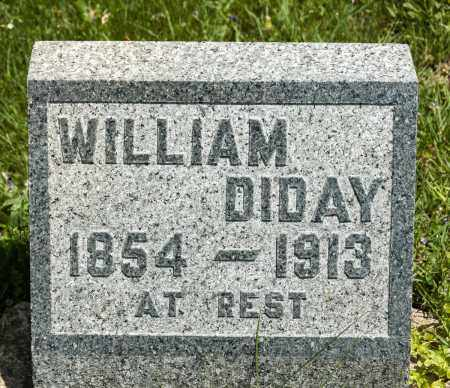 DIDAY, WILLIAM - Crawford County, Ohio | WILLIAM DIDAY - Ohio Gravestone Photos