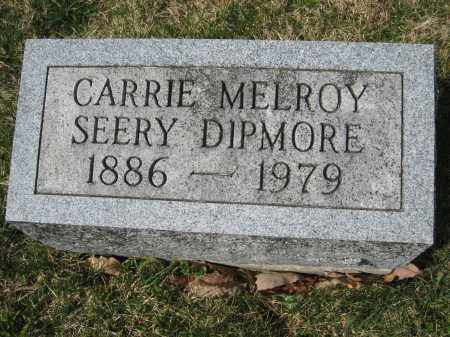MELROY DIPMORE, CARRIE - Crawford County, Ohio | CARRIE MELROY DIPMORE - Ohio Gravestone Photos