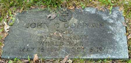 DONNAN, JOHN CLARENCE - Crawford County, Ohio | JOHN CLARENCE DONNAN - Ohio Gravestone Photos