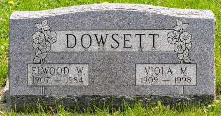 DOWSETT, VIOLA M. - Crawford County, Ohio | VIOLA M. DOWSETT - Ohio Gravestone Photos