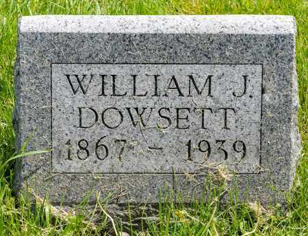 DOWSETT, WILLIAM J. - Crawford County, Ohio | WILLIAM J. DOWSETT - Ohio Gravestone Photos