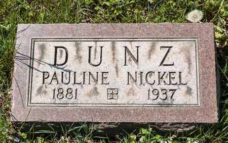 DUNZ, PAULINE - Crawford County, Ohio | PAULINE DUNZ - Ohio Gravestone Photos
