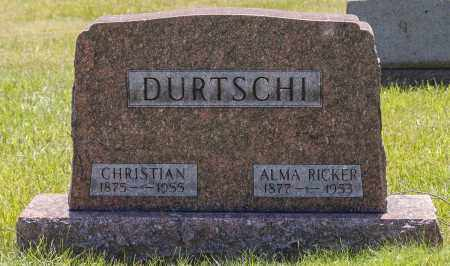 RICKER DURTSCHI, ALMA - Crawford County, Ohio | ALMA RICKER DURTSCHI - Ohio Gravestone Photos