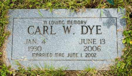 DYE, CARL W. - Crawford County, Ohio | CARL W. DYE - Ohio Gravestone Photos
