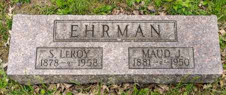 EHRMAN, S. LEROY - Crawford County, Ohio | S. LEROY EHRMAN - Ohio Gravestone Photos