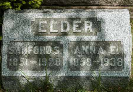 ELDER, ANNA E. - Crawford County, Ohio | ANNA E. ELDER - Ohio Gravestone Photos