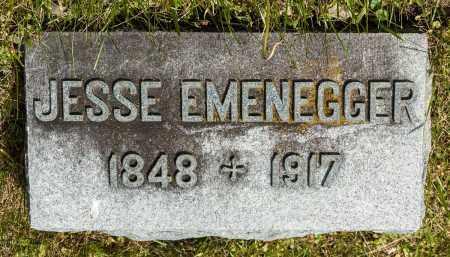 EMENEGGER, JESSE - Crawford County, Ohio | JESSE EMENEGGER - Ohio Gravestone Photos