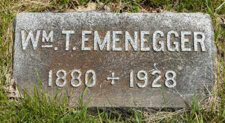 EMENEGGER, WILLIAM T. - Crawford County, Ohio   WILLIAM T. EMENEGGER - Ohio Gravestone Photos