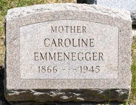 EMMENEGGER, CAROLINE - Crawford County, Ohio | CAROLINE EMMENEGGER - Ohio Gravestone Photos