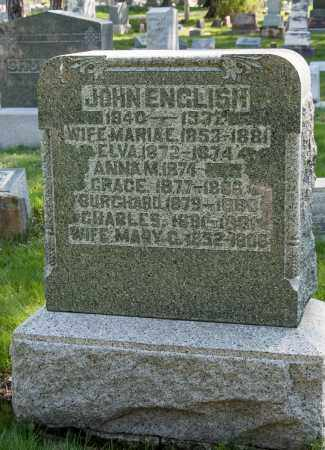 ENGLISH, JOHN - Crawford County, Ohio | JOHN ENGLISH - Ohio Gravestone Photos