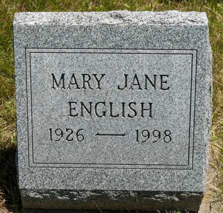 ENGLISH, MARY JANE - Crawford County, Ohio | MARY JANE ENGLISH - Ohio Gravestone Photos
