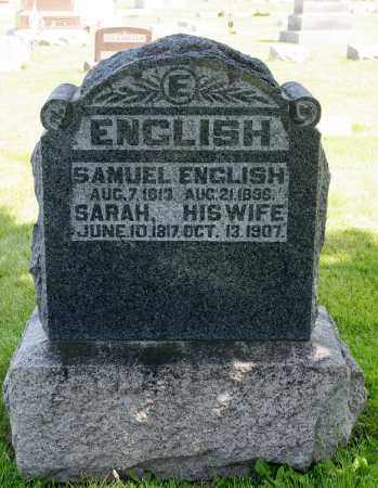 ENGLISH, SARAH - Crawford County, Ohio | SARAH ENGLISH - Ohio Gravestone Photos