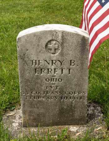 ERRETT, HENRY BENJAMIN - Crawford County, Ohio | HENRY BENJAMIN ERRETT - Ohio Gravestone Photos