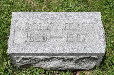 ERRETT, JOHN WESLEY - Crawford County, Ohio | JOHN WESLEY ERRETT - Ohio Gravestone Photos