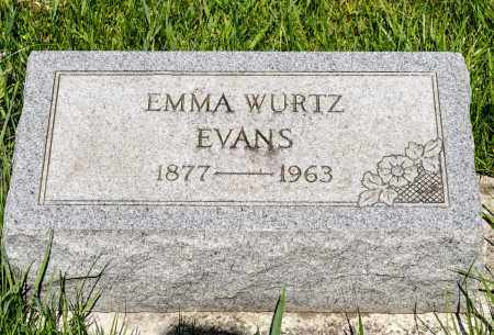 WURTZ EVANS, EMMA - Crawford County, Ohio | EMMA WURTZ EVANS - Ohio Gravestone Photos
