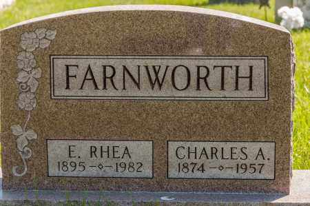 HENRY FARNWORTH, ELLA RHEA - Crawford County, Ohio | ELLA RHEA HENRY FARNWORTH - Ohio Gravestone Photos
