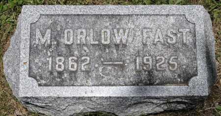 FAST, MAHLON ORLOW - Crawford County, Ohio | MAHLON ORLOW FAST - Ohio Gravestone Photos