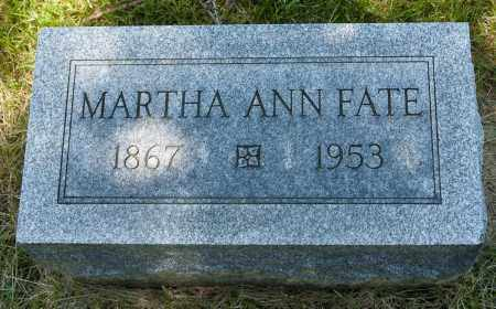 FATE, MARTHA ANN - Crawford County, Ohio | MARTHA ANN FATE - Ohio Gravestone Photos